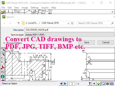 DXF / DWG to XYZ converter data format setting