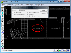 CAD Viewer 2016 Screenshot - Find Text in Drawing.